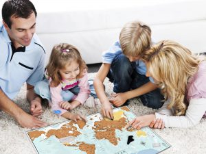Whole family can enjoy very educational Scratch Off Map